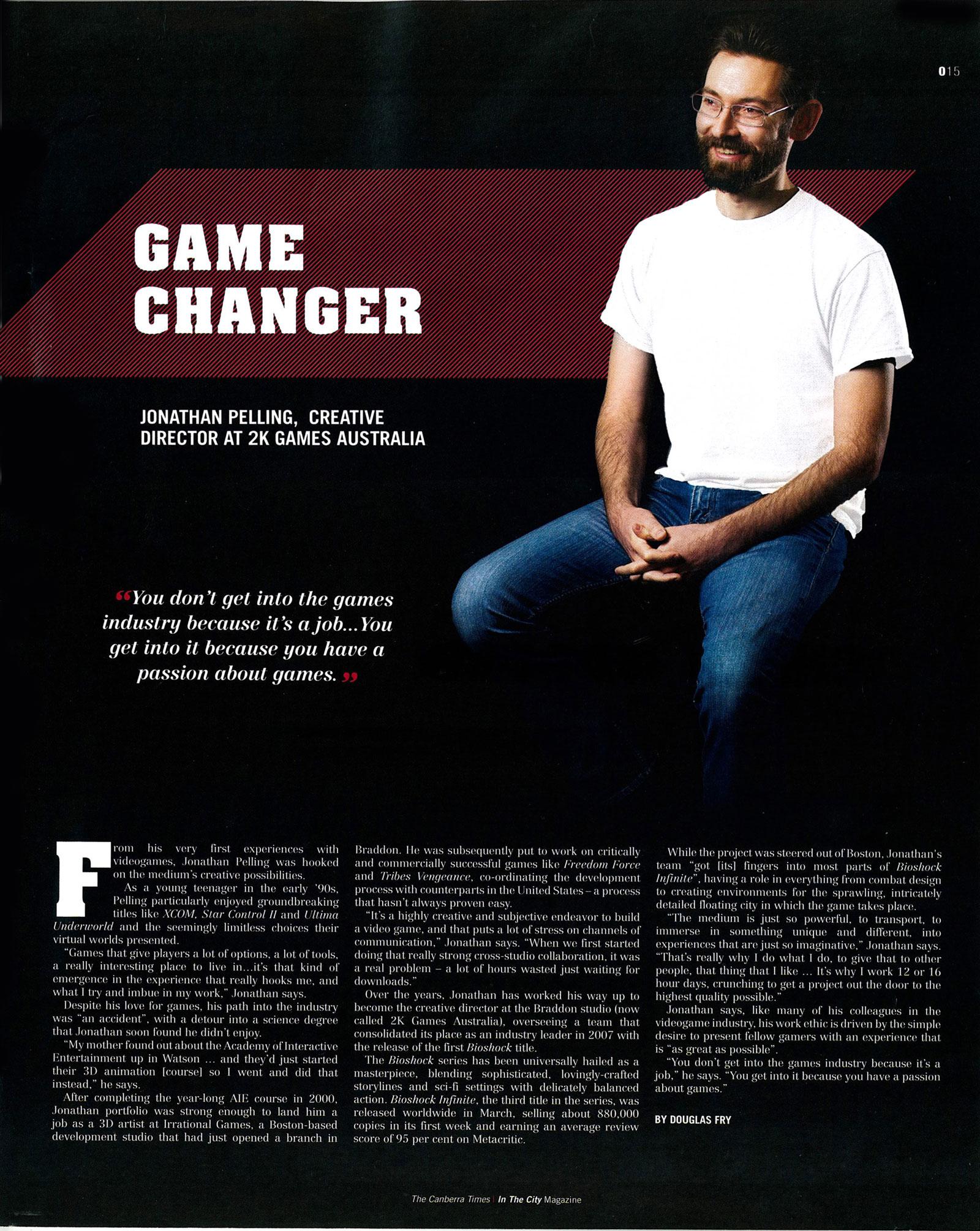 AIE Graduate | Jonathan Pelling | 2K Creative Director